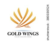 logo gold wings icon element... | Shutterstock .eps vector #380330524