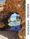 the grotto in the port campbell ... | Shutterstock . vector #380332804