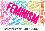 feminism word cloud on a white... | Shutterstock .eps vector #380333023