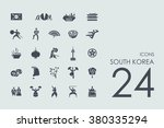set of south korea icons | Shutterstock .eps vector #380335294