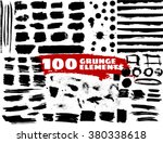 large grunge elements set.... | Shutterstock .eps vector #380338618