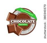chocolate label. | Shutterstock .eps vector #380340370