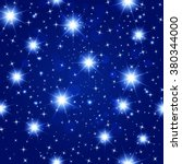 blue night sky seamless pattern ... | Shutterstock .eps vector #380344000