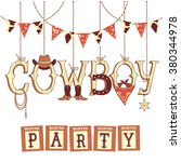 cowboy party western decoration ... | Shutterstock .eps vector #380344978