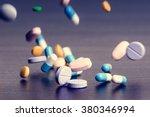 Pharmacy Background On A Dark...