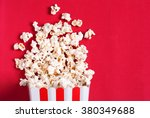 Popcorn On A Red