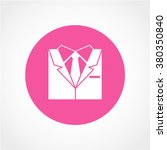 business suit icon isolated on...