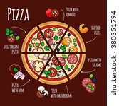 pizza slices with pizza... | Shutterstock .eps vector #380351794