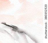hand painted watercolor... | Shutterstock . vector #380352520