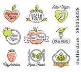 raw vegan  detox  organic ... | Shutterstock .eps vector #380358328