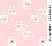 cute floral seamless background ... | Shutterstock .eps vector #380360350