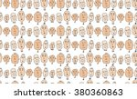 a seamless vector pattern with... | Shutterstock .eps vector #380360863