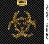 gold glitter vector icon of bio ...   Shutterstock .eps vector #380362960