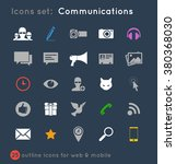 icons set of light colored... | Shutterstock .eps vector #380368030
