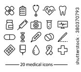 medical icons collection | Shutterstock .eps vector #380370793
