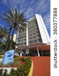Small photo of SUNNY ISLES BEACH - FEBRUARY 12: Image of the Florida Ocean Club midrise condominium located at 17275 Collins Ave completed in 1995 February 12, 2016 in Sunny Isles Beach FL, USA