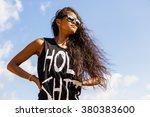outdoor portrait of a beautiful ... | Shutterstock . vector #380383600