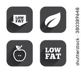low fat arrow icons. diets and... | Shutterstock .eps vector #380389648