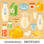 dairy products. raster icon of... | Shutterstock . vector #380392603