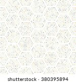 hexagon dots seamless pattern | Shutterstock .eps vector #380395894