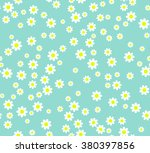 Seamless Flower Pattern. White...