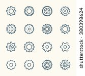 gears line icons | Shutterstock .eps vector #380398624
