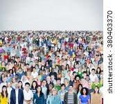 diverse diversity multiethnic... | Shutterstock . vector #380403370