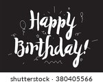 happy birthday inscription....   Shutterstock .eps vector #380405566