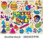 holi festival illustration.... | Shutterstock .eps vector #380405998