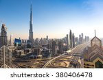 Aerial View Of Downtown Dubai...