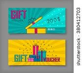 gift voucher template with... | Shutterstock .eps vector #380412703