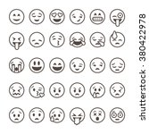 set of outline emoticons  emoji ... | Shutterstock .eps vector #380422978