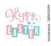 happy easter card. easter hand... | Shutterstock .eps vector #380425399