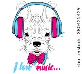 french bulldog wearing... | Shutterstock .eps vector #380425429