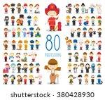 kids vector characters... | Shutterstock .eps vector #380428930