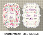 vintage wedding invitation card ... | Shutterstock .eps vector #380430868