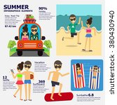 summer infographics elements  ... | Shutterstock .eps vector #380430940