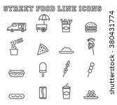 street food line icons  mono... | Shutterstock .eps vector #380431774