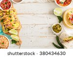 variety of colorful mexican... | Shutterstock . vector #380434630