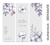 botanical floral summer print... | Shutterstock .eps vector #380436658