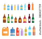 plastic bottle set design flat... | Shutterstock .eps vector #380437759