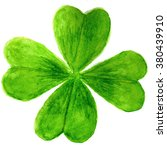 Four Leaf Clover In Watercolor