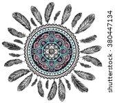 ethnic american indian dream... | Shutterstock .eps vector #380447134