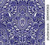 beautiful vector vintage floral ... | Shutterstock .eps vector #380449363