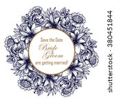 invitation with floral... | Shutterstock . vector #380451844
