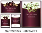 collection of floral... | Shutterstock .eps vector #38046064