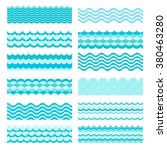 collection of marine waves. sea ... | Shutterstock . vector #380463280
