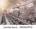 air cargo freighter | Shutterstock . vector #380464993