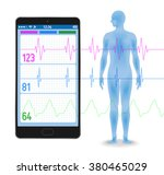human vital sign and smart... | Shutterstock .eps vector #380465029