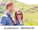 young tourist couple travel... | Shutterstock . vector #380466148